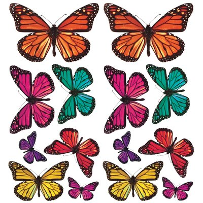 Room Mates Butterfly 3-D Wall Decals