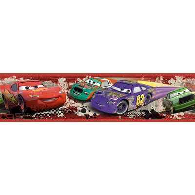 Room Mates Cars Piston Cup Racing Peel and Stick Wallpaper Border