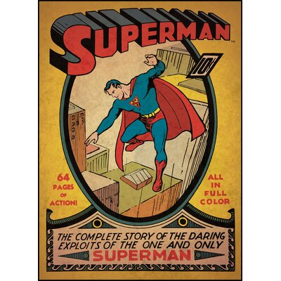 Room Mates Superman Issue No. 1 Peel and Stick Comic Book Cover Wall Decal