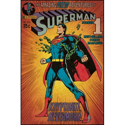 Room Mates Superman Kryptonite Peel and Stick Comic Cover Wall Decal
