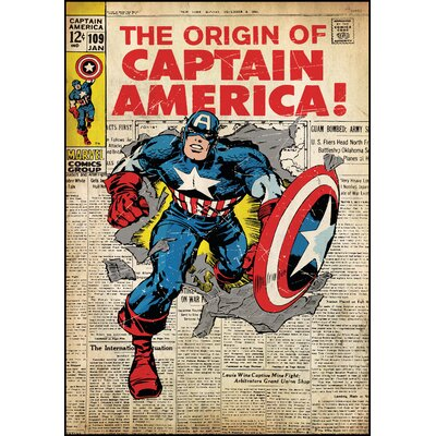 Room Mates Captain America Peel and Stick Comic Book Cover Wall Decal