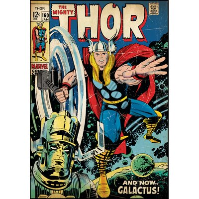 Room Mates Thor Peel and Stick Comic Book Cover Wall Decal