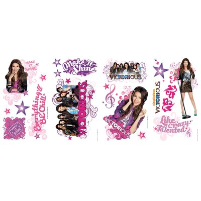 Room Mates 20-Piece Nickelodeon Victorious Peel and Stick Wall Decal
