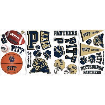 28 Piece University of Pitt Wall Decal
