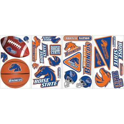Room Mates 25-Piece Boise State Peel and Stick Wall Decals