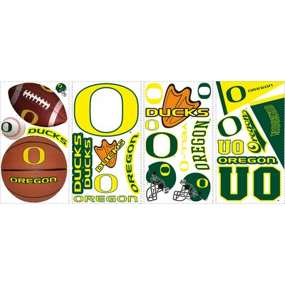 Room Mates 26 Piece University of Oregon Wall Decal