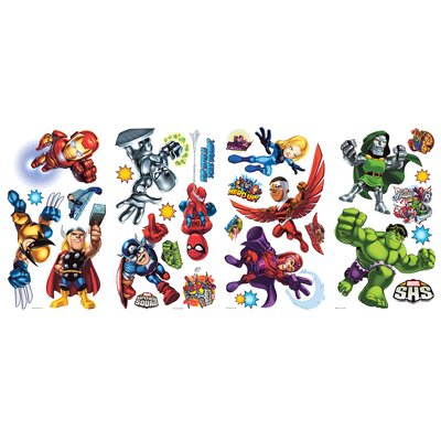 Room Mates Marvel Super Hero Squad Peel and Stick Wall Decal