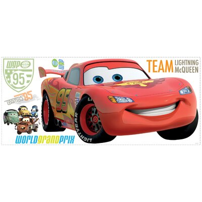 Room Mates 106-Piece Cars 2 Lightening Peel and Stick Giant Wall Decal with Personalization