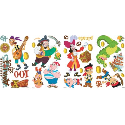 Room Mates Jake and the Neverland Pirates Peel and Stick Wall Decals