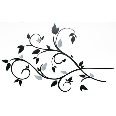 Room Mates Scroll Branch Foil Leaves Peel and Stick Wall Decal