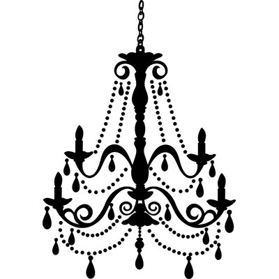 Room Mates Chandelier with Gems Peel and Stick Giant Wall Decal