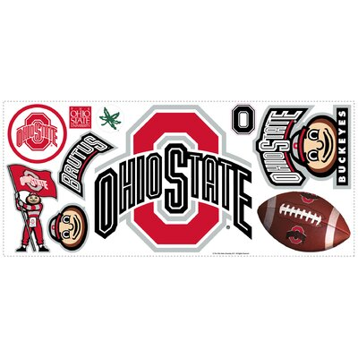 Room Mates Ohio State Peel and Stick Giant Wall Decal