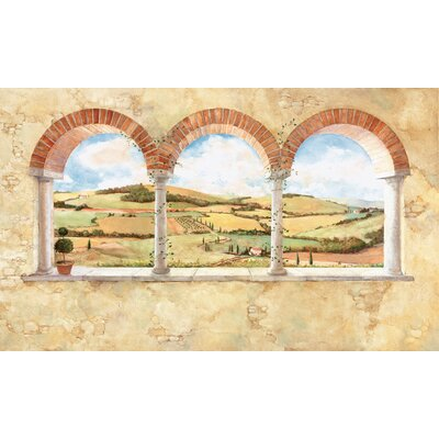 Room Mates Tuscan View Chair Rail Prepasted Wall Mural