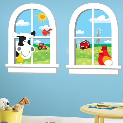 Room Mates Down on the Farm Peel and Stick Window Wall Decal