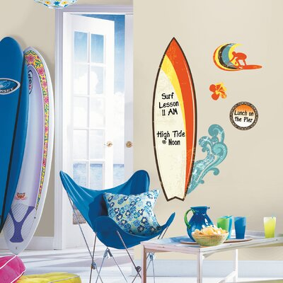 Room Mates Surfs Up Dry Erase Peel and Stick Giant Wall Decal