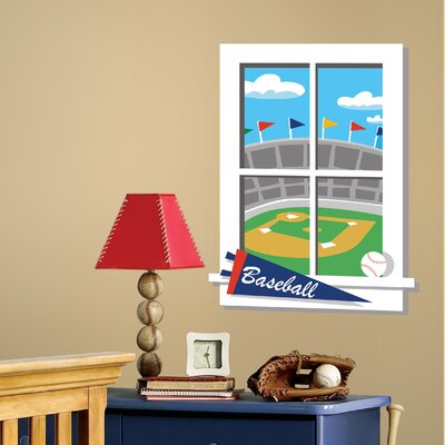 Room Mates Play Ball Peel and Stick Window Wall Decal