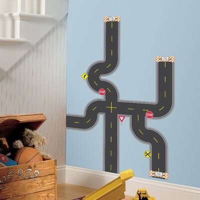 Room Mates 30-Piece Build-A-Road Peel and Stick Wall Decals