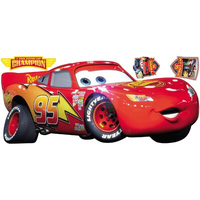 Room Mates Cars - Lightening McQueen Peel and Stick Giant Wall Decal