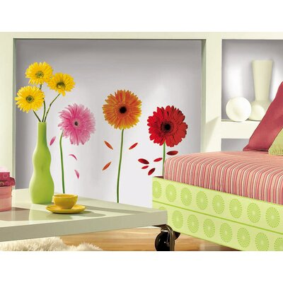 Room Mates Small Gerber Daisies Peel and Stick Wall Decal