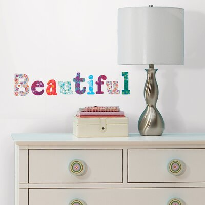 Room Mates Boho Alphabet Peel and Stick Wall Decals