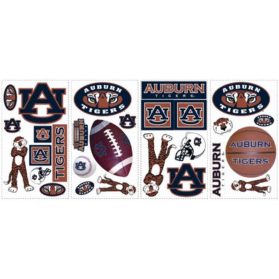 Room Mates Collegiate Sports 28 Piece Appliqué Auburn University Wall Decal Set