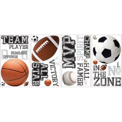 Room Mates All Star Sports Saying Peel and Stick Wall Decal
