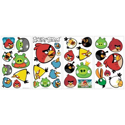 Room Mates 34 Piece Angry Birds Wall Decal