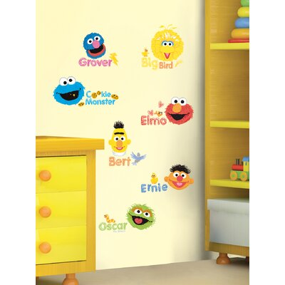 Room Mates Sesame Street Scribble Peel and Stick Wall Decals