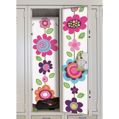 Room Mates Flower Stripe Peel and Stick Locker Skins