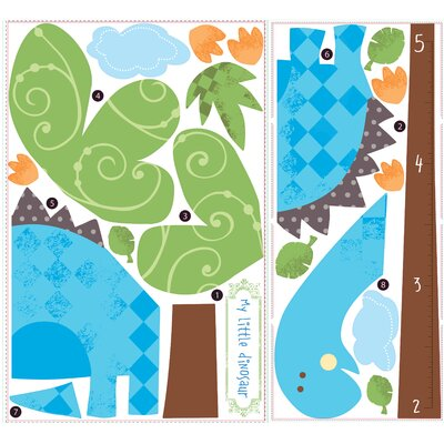 Room Mates Babysaurus Peel and Stick Growth Chart Wall Decals