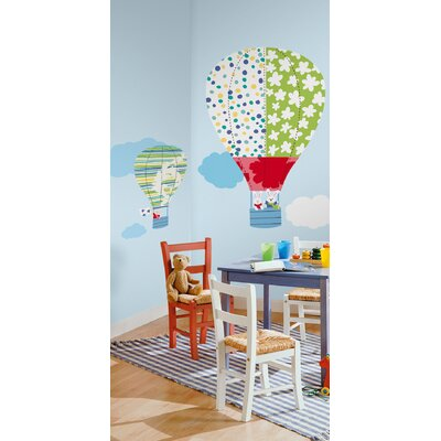 Room Mates Hot Air Balloons Peel and Stick Giant Wall Decals