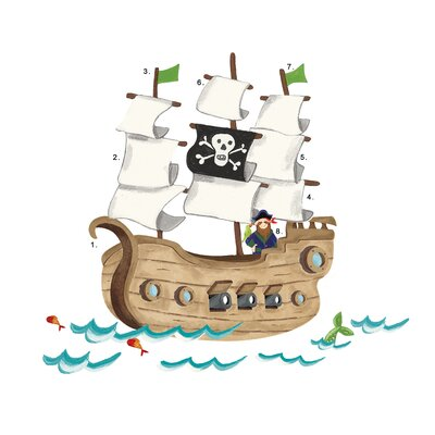 Room Mates Pirate Ship Giant Wall Decal