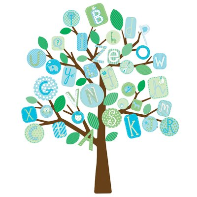 Room Mates ABC Tree Peel and Stick Giant Wall Decals