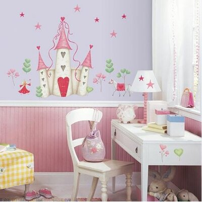 Room Mates Studio Designs 21 Piece Princess Castle Giant Wall Decal Set