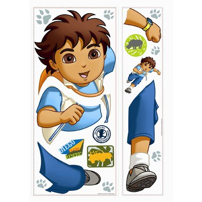 Room Mates Favorite Characters 19 Piece Nickelodeon Go Diego Go! Giant Wall Decal Set