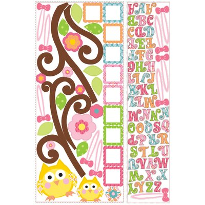 Room Mates 98 Piece Peel & Stick Giant Happi Scroll Tree Letter Branch Wall Decal Set
