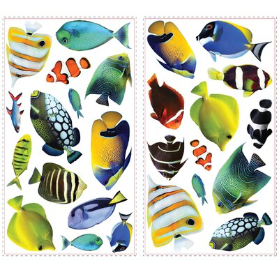 Room Mates 26 Piece Peel & Stick Wall Decals/Wall Stickers Fish Wall Decal Set
