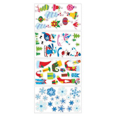 Room Mates Seasonal 53 Piece Let It Snow Wall Decal Set