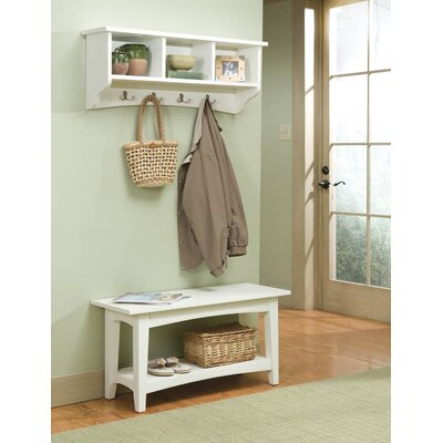 Alaterre Shaker Cottage Bench Table and Coat Hooks