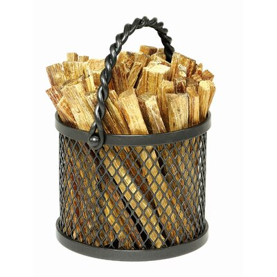 Minuteman International Wrought Iron Twisted Rope Fatwood Caddy
