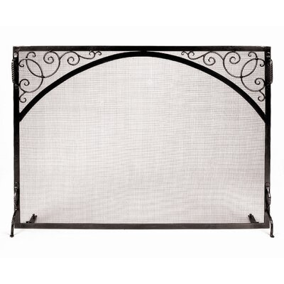 Minuteman International Scroll and Arch Sterling Wrought Iron Fireplace Screen