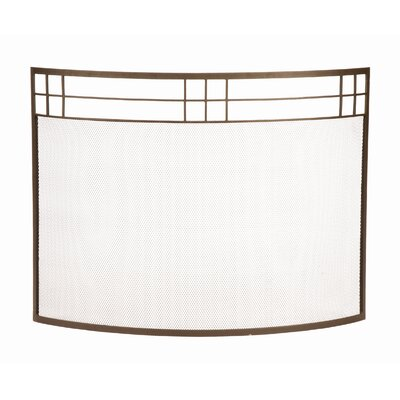 Minuteman International Arts and Crafts Curved Wrought Iron Fireplace Screen