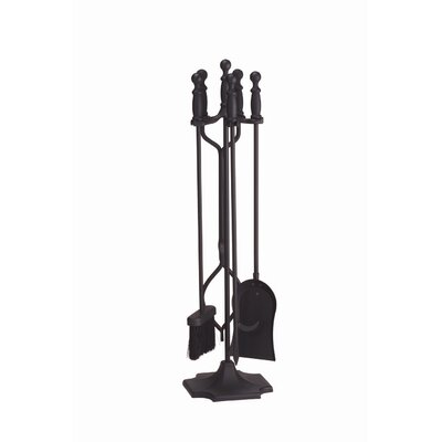 Minuteman International 4 Piece Ball Handle Iron Fireplace Tool Set