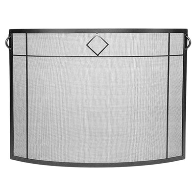 <strong>Minuteman International</strong> Diamond Curved Wrought Iron Fireplace Screen