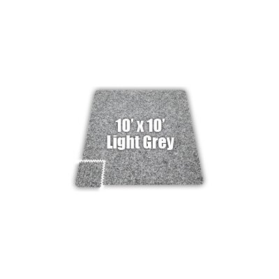 Alessco Inc. SoftCarpets Set in Light Grey