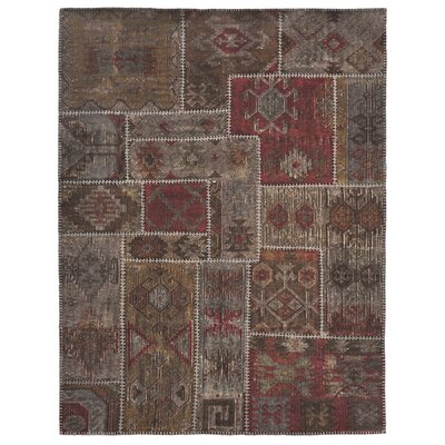 Classic Home Lavaggio Coffee Patchwork Rug