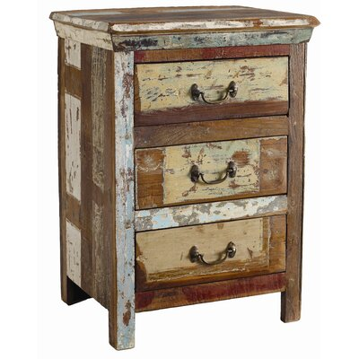 Coralie 3 Drawer Nightstand