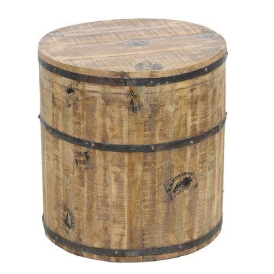 Classic Home Desi Round Barrel Side Table