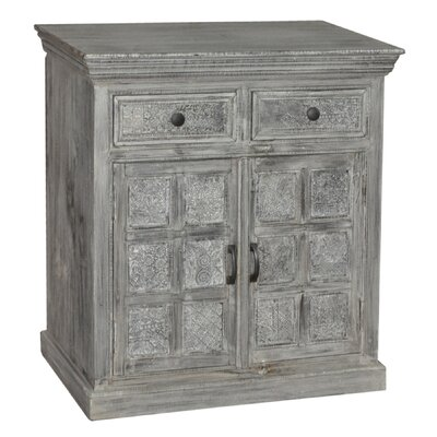 Classic Home Corbin 2 Drawer / 2 Door Print Block Cabinet