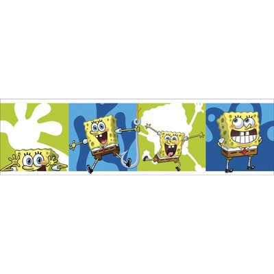 Blue Mountain Wallcoverings Nickelodeon SpongeBob SquarePants Self Stick Wall Border